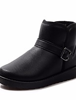 Недорогие -Для мужчин обувь Полиуретан Зима Осень Удобная обувь Зимние сапоги Ботинки Ботинки для Повседневные Черный Коричневый