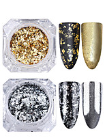 cheap -1pc Glitters Sparkle Laser Holographic Glitter Powder Silver Gold Nail Art Design