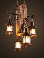 cheap -Rustic/Lodge Country Mini Style Pendant Light Ambient Light For Shops/Cafes 220-240V 110-120V Bulb Not Included