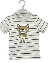 cheap -Boys' Cartoon Tee,Cotton Summer Short Sleeve Cartoon Yellow Gray Green