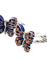 cheap -Geometric Blue Cufflinks Gold Plated Animals Elegant Party Gift Men's Costume Jewelry