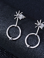 cheap -Women's Stud Earrings Basic Silver Plated Circle Jewelry For Wedding Party