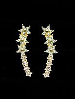 cheap -Women's Stud Earrings Sweet Fashion Zircon Alloy Star Jewelry Party Daily