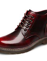 Недорогие -Муж. обувь Кожа Зима Осень Армейские ботинки Удобная обувь Ботинки Ботинки для Повседневные Черный Коричневый Вино