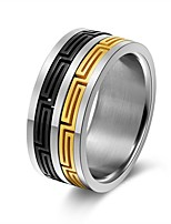 cheap -Men's Women's Band Rings Classic Hiphop Stainless Steel Jewelry Ceremony Carnival