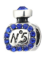 cheap -DIY Jewelry 10 pcs Beads Purple Pearl Pink Green Light Blue Royal Blue Cylinder Rhinestone Alloy Bead 0.45 cm DIY Bracelet Necklace