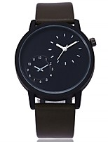cheap -Women's Fashion Watch Wrist watch Chinese Quartz Dual Time Zones Large Dial Leather Band Casual Minimalist Black Brown Green Grey Beige