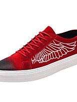 cheap -Men's Shoes PU Spring Fall Comfort Sneakers for Outdoor Red Black