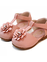cheap -Girls' Shoes Leatherette Spring Fall First Walkers Comfort Flats for Casual White Red Pink