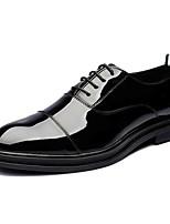 Недорогие -Муж. обувь Кожа Лакированная кожа Весна Осень Удобная обувь Мокасины и Свитер для Свадьба Повседневные Черный