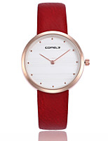 cheap -Women's Wrist watch Casual Watch Chinese Quartz Casual Watch Genuine Leather Band Casual Minimalist Black White Red Brown Green