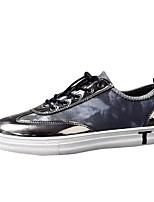 Недорогие -Для мужчин обувь Ткань Полиуретан Весна Осень Удобная обувь Кеды для Повседневные Черный Серый Черный/Красный