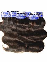 Недорогие -дешевые 7a перуанские девственные человеческие волосы волна тела 6bundles 300g lot для волос одной черной девушки ткут естественный черный