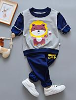 cheap -Boys' Sports Print Clothing Set,Cotton Spring Long Sleeve Casual Gray