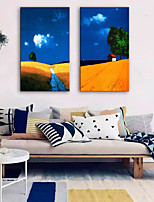 cheap -Canvas Print Rustic Modern,Two Panels Canvas Vertical Print Wall Decor Home Decoration