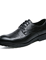 cheap -Men's Shoes Leatherette Spring Summer Formal Shoes Oxfords for Wedding Party & Evening Black Gray