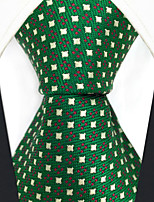 cheap -Silk Necktie,Vintage Work Casual All Seasons Green