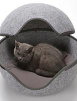 Недорогие -Кошка Собака Кровати Животные Корзины Однотонный Мини Серый Коричневый Розовый Светло-синий Для домашних животных