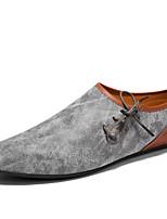 Недорогие -Муж. обувь Натуральная кожа Кожа Весна Лето Удобная обувь Мокасины и Свитер Животные принты для Повседневные Бежевый Серый Коричневый