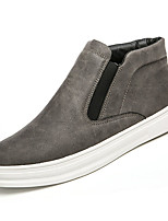 cheap -Men's Shoes PU Spring Fall Comfort Sneakers for Outdoor Brown Gray Black