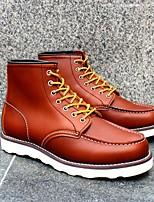 Недорогие -Для мужчин обувь Кожа Весна Осень Ботильоны Ботинки Ботинки для Черный Кофейный Коричневый