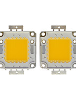 cheap -100W COB 8000LM 3000-3200K/6000-6200K Warm White/White Light LED Chip DC30-36V 2Pcs