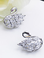 cheap -Women's Stud Earrings Rhinestone Rhinestone Silver Plated Jewelry Wedding Party Costume Jewelry