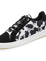 Недорогие -Муж. обувь Полиуретан Весна Осень Удобная обувь Кеды для Повседневные Розовый Черно-белый Черный / синий