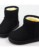 cheap -Girls' Shoes Nubuck leather Winter Fall Comfort Snow Boots Boots Booties/Ankle Boots for Casual Khaki Red Black