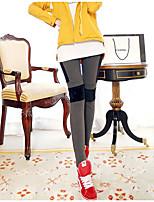 cheap -Women's Retro Cotton Opaque Solid Color Legging,Solid Plaid Dark Gray Black