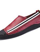 Недорогие -обувь Полиуретан Весна Осень Удобная обувь Мокасины и Свитер для на открытом воздухе Черный Серый Красный