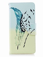 cheap -Case For Nokia Nokia 8 Nokia 6 Card Holder Wallet with Stand Flip Pattern Full Body Feathers Hard PU Leather for Nokia 8 Nokia 6 Nokia 5