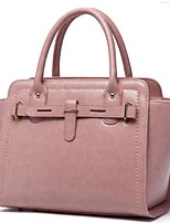cheap -Women Bags Cowhide Polyester Tote Zipper for Casual All Season Brown Blushing Pink Black