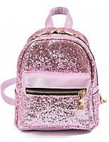 cheap -Women Bags Polyester Backpack Sequins Zipper for Casual All Season Silver Light Purple Blushing Pink Black
