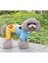 economico -Cane Cappottini Felpe con cappuccio Abbigliamento per cani Casual stile sveglio Floral/botanico Collage Lettere & Numeri Giallo Fucsia