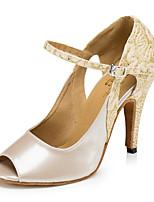 abordables -Femme Latines Similicuir Sandale Basket Intérieur Entraînement Ornement Talon Aiguille Amande Personnalisables