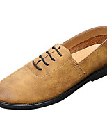 cheap -Men's Shoes Rubber Spring Fall Comfort Oxfords for Outdoor Yellow Coffee