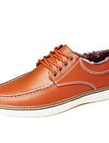 preiswerte -Schuhe Oxford Winter Herbst Pelzfutter Komfort Sneakers für Normal Schwarz Gelb Braun Blau