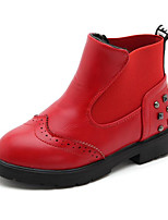 cheap -Girls' Shoes Synthetic Microfiber PU Spring Fall Comfort Bootie Boots Booties/Ankle Boots for Casual Wine Red Black