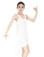 cheap -Ballet Dresses Women's Children's Performance Spandex Elastic Mesh Sequined Paillette Criss Cross Sleeveless Natural Dresses Headpieces