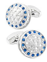 cheap -Circle Blue Cufflinks Crystal Copper Casual Basic Daily Formal Men's Costume Jewelry