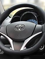 abordables -cubiertas del volante automotriz (cuero) para toyota todos los años yaris