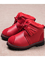 cheap -Girls' Shoes Real Leather Winter Fall Comfort Snow Boots Boots Booties/Ankle Boots for Casual Red Yellow Black