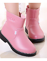 cheap -Girls' Shoes Real Leather Spring Fall Comfort Fashion Boots Boots Booties/Ankle Boots for Casual Burgundy Pink Black