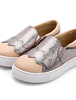 cheap -Girls' Shoes Synthetic Microfiber PU Spring Fall Comfort Loafers & Slip-Ons for Casual Silver Light Grey