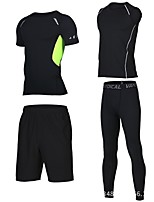 cheap -Men's Running T-Shirt with Shorts Short Sleeves Fast Dry Compression Clothing Shorts Sweatshirt for Running/Jogging Tennis Ball Outdoor