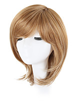 cheap -Synthetic Hair Wigs Wavy African American Wig Side Part Natural Hairline Pixie Cut Bob Haircut With Bangs Halloween Wig Party Wig Lolita