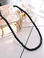 cheap -DIY Jewelry 95 pcs Beads Imitation Pearl White Black Pearl Pink Light Pink Round Mini Bead 0.3 cm DIY Necklace Bracelet