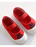 Недорогие -Девочки обувь Полотно Весна Осень Удобная обувь На плокой подошве для Повседневные Белый Темно-синий Персиковый Красный