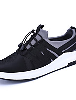 cheap -Men's Shoes Synthetic Microfiber PU Winter Fall Comfort Sneakers for Casual Black Light Grey Black/Red